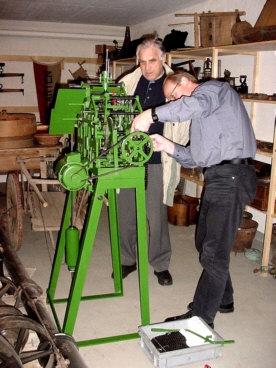 Altes Uhrwerk Marienkirche Montage 4
